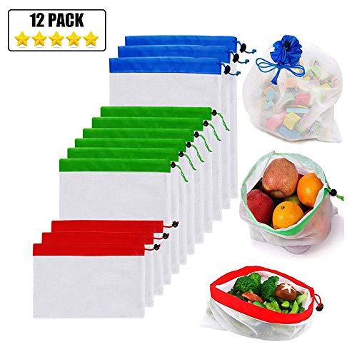 JUMKEET 9 Pack Bolsas De Productos Reutilizables Bolsas