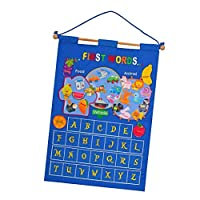SaniMomo Classroom Resources Pocket Chart Monthly Calendar Wall Hanging Learning Calendar