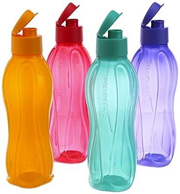 Tupperware Flip Top water Bottles ( Set of 4 Bottles ) 25 Oz - 750 ml