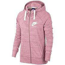 Nike W NSW Gym VNTG Hoodie FZ Sudaderas, Mujer, Rosa/Sail, S
