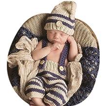 Accesorios de fotografía Binlunnu. Accesorios para bebé recién nacido   gorrito con y pantalón tejidos 6c4f415e3c6