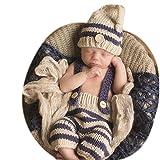 Neugeborene junge mädchen Handarbeit gehäkelte Baby kostüm fotoshooting Hut Mütze Keuchen by BINLUNNU