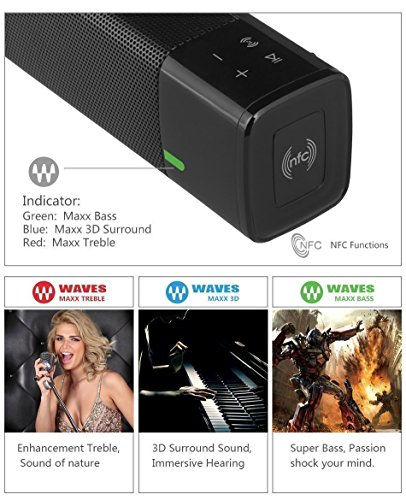 Wireless-Bluetooth-Speaker-V41-NIUB5-Portable-Bluetooth-Speaker-Stereo-Bass-Soundbar-20W-Dual-Speaker-3-Maxx-Sound-Modes-Support-USB-TF-Card-Micro-SD-for-SmartPhone-iPhone-iPod-iPad-Samsung-LG-Tablet-