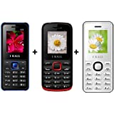 I KALL 1.8 Inch Display Dual Sim Mobile Combo Power Pack Of Three Mobile- K20 Blue+ K11 Red+ K66 White