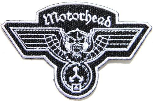 Motörhead Logo Heavy Metal, Hammerschlag-Band-Musikposter Punk Rock Jacke, T-shirt Patch Aufnäher Abzeichen Aufbügler bestickt Motiv Costum Größe 8.89 cm Breite x 6.35 cm Höhe -