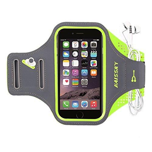 Haissky Armband de Téléphone Brassard de Sport Anti-Sueur avec Porte-clés et Sangle Réglable pour iPhone X/8 Plus/7 Plus/6 Plus Samsung S8/S7 Edge Note 8 et les autres smartphones inférieur à 6 pouces