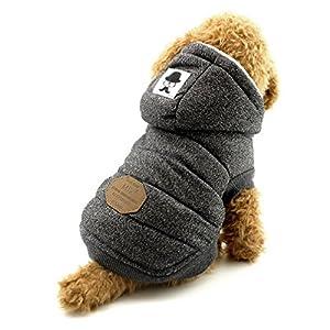 Ranphy Chien Sweat à capuche d'hiver Gilet Puffer Manteau pour chien chiot Petit Animal au chaud Vêtements
