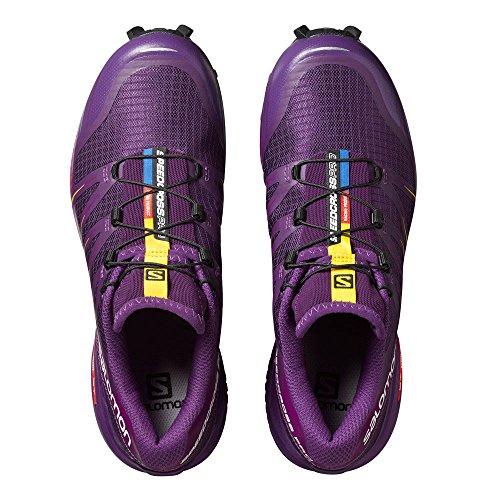 Salomon Damen Speedcross Pro Traillaufschuhe lila / gelb