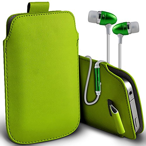 ( Yellow ) Pouch Case for iPhone 7 Plus Mobile Phone Case Premium Stylish Faux Leather Pull Tab Pouch Skin Case Cover Various Colours To Choose From iPhone 7 Plus case by i-Tronixs Pull tab + earphones (Green)