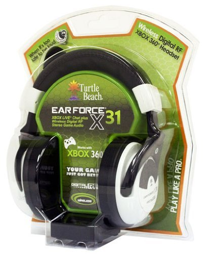 Voyetra Turtle Beach Ear Force X31 Wireless Headset Heart-Thumping Bass Boost Stereo Expander by Turtle Beach