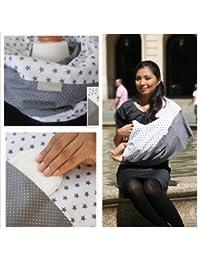 """L'écharpe-tube d'allaitement """"Grey Star"""" avec petites poches pour coussinetsd'allaitement. S-M"""