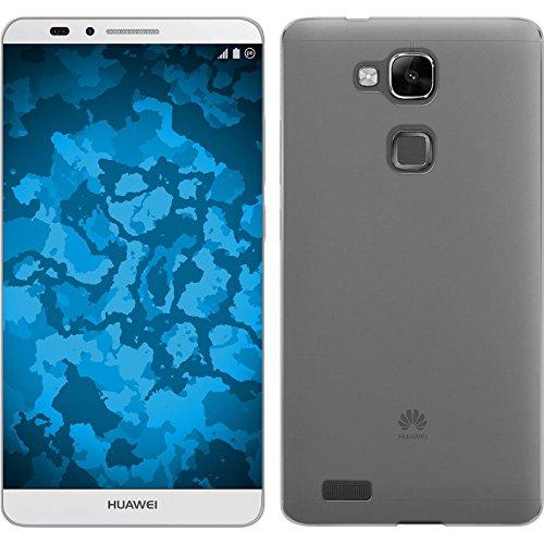 PhoneNatic Case kompatibel mit Huawei Ascend Mate 7 - Clear Silikon Hülle Slimcase + 2 Schutzfolien