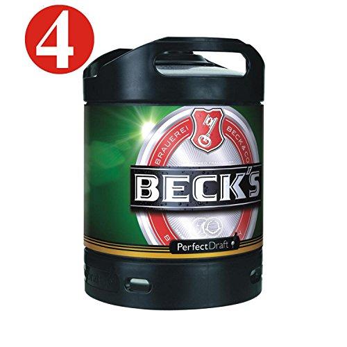 4x Becks Pils Perfect Draft 6 Liter Fass 4,9 % vol inc. 20.00€ MEHRWEG Pfand