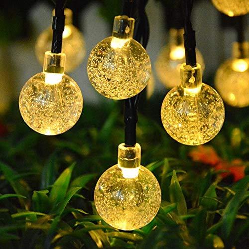 Topeedy 6m luci della stringa 40 lampadine a led,luci decorative a batteria impermeabili alimentate a batteria per decorazioni per camera da letto,all'aperto,matrimonio,festa di natale(bianco caldo)