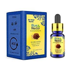 Blue Nectar Kumkumadi Ayurvedic Radiance Glow Night Serum - 10Ml