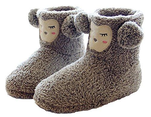 summer-mae-femme-chaussons-bottes-duveteux-motif-animaux-interieur-exterieur-gris-taille-36-37-eu