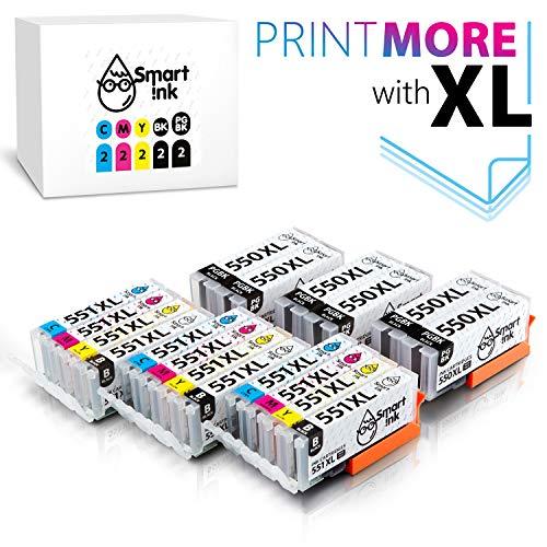Smart Ink Kompatibel Druckerpatronen Tintenpatronen Canon PGI 550 XL 550XL CLI 551 XL 551XL 18 Pack(6 PGBK & 3 BK/C/M/Y)mit Chip für PIXMA MG5450 MX725 MX925 MG6450 MG5550 IX6850 MG5650 IP7250 IP8750