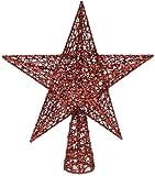 Festive Productions glitter stella albero toppera Jovial aggiunta per il vostro albero questo Natale, i glitter stella albero topper da Festive Productions presenta un cavo in tessuto e design, perfetto per aggiungere un tocco moderno a setti...