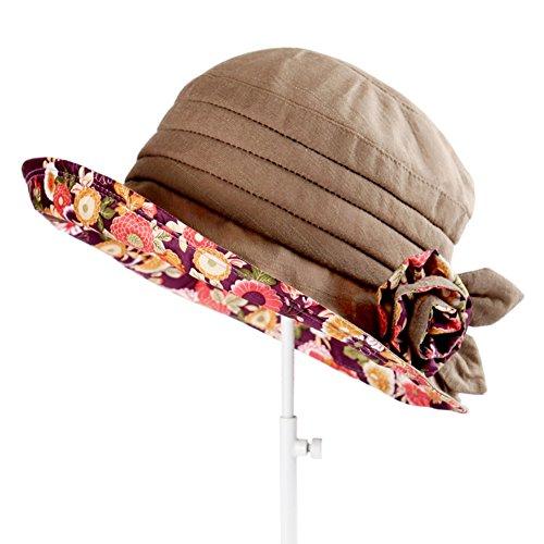 Pêcheurs douce petite femme chapeau/UV chapeau de soleil/chapeau de soleil/Tissu plié de Sun Hat B