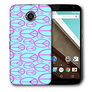 Snoogg peace symbol pattern 2894 Designer Protective Back Case Cover For Motorola Nexus 6
