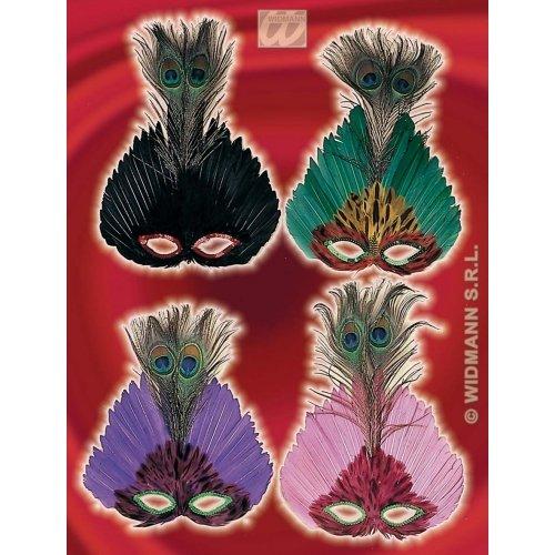 Augenmaske Kostüm Feder - WIDMANN Eyemask Feder Elegance Karneval Party Masken Augenmasken & Verkleidungen für Maskenade Kostüm Zubehör