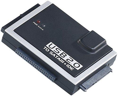 Xystec Festplattenadapter: Universal-Festplatten-Adapter IDE/SATA auf USB 2.0, für HDDs & SSDs (Festplatte Auslesen) (Festplatte Ide Laptop)