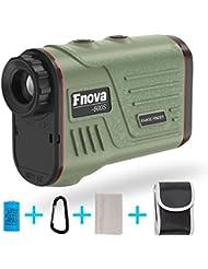 Laser Rangefinder, Fnova Digital Hunting Range Finder Ranging 5-600 Yards, +/- 1 Yard Accuracy, 6X Magnification Optical Lens with Distance and Speed Measurement for Golf, Racing, Shoot, Range Finder