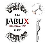JABUX False Eyelashes Black #43 Classic Glamorous Perfect for Beginners Reusable Glamorous 6 Pairs Fake Eyelashes Amazon