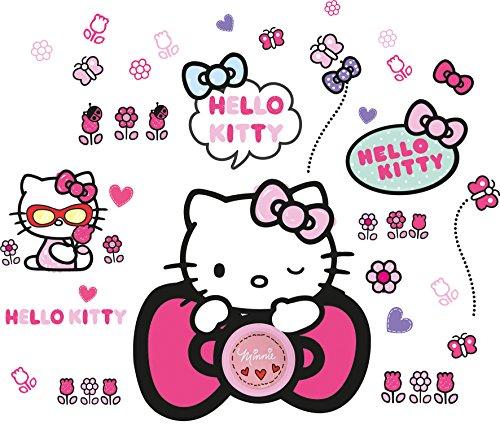 Worlds Apart 554HTT ReadyRoom Hello Kitty Ding Dong Doorbell Wall Stickers (Wand Die Hello Für Kitty-bilder)