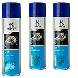 Normfest Bremsenreiniger MC-1 Multicleaner Spray 500ml Intensiv Reiniger transparent (3 Dosen)