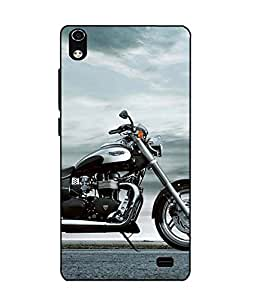 Case Cover Bike Printed Blue Soft Back Cover For LYF WATER 6