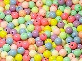 Acryl Perlen Spacer Beads 8mm Multicolor Mix Schmuckperlen Kinderperlen Bastelperlen 50 Stück