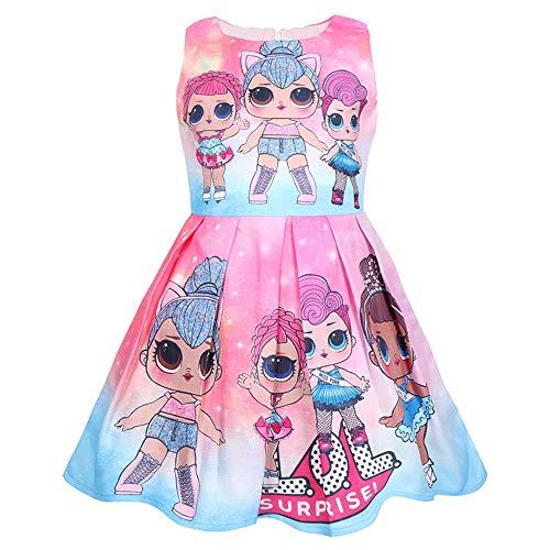 Puppe Kostüm Kleider - QYS Mädchen überraschen Prinzessin Kostüm Puppe