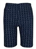 Feoya - Traje de Baño Cuadro para Hombre Pantalones Corto de Natación con Bolsillos Prácticos Bañador Suave - Azul Marino ES 50