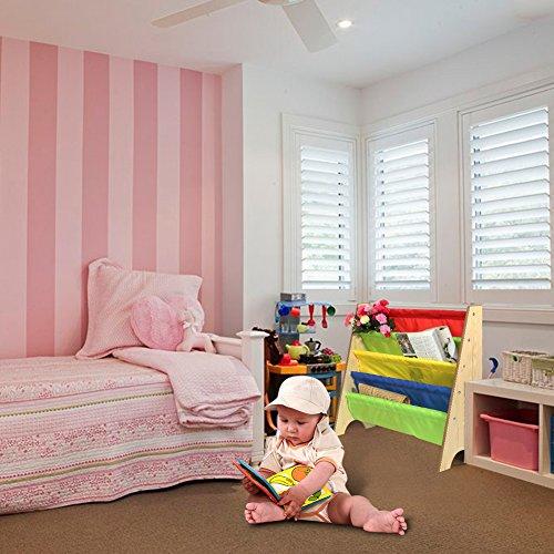Kinder Kinderregal Bücherregal Spielzeugregal Spielzeugkiste Aufbewahrungsregal 68*28*60cm (Holzfarbe)