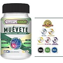 Muévete - Potente Cúrcuma Microencapsulada con Colágeno, Magnesio, Condroitina, MSM y Vitamina C – Componentes Microencapsulados de Rápida Asimilación ...