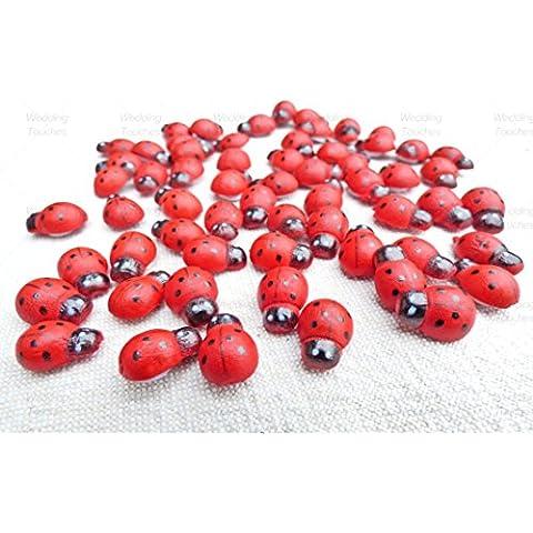 500 Mini 9 x 12 mm, autoadesiva in legno con coccinelle Ladybugs Craft-Decorazioni per biglietti d'auguri, in