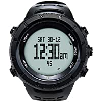 EZON SHS Klettern Wandern Outdoor Sport Armbanduhr mit Kompass Höhenmesser Barometer Thermometer Wasserdicht Armbanduhr für Herren h001h11