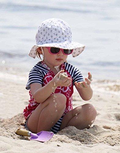 Baby-Kinder-Kleinkinder-Sonnenhut-mit-Kinnriemen-Kordelzug-einstellbare-Kopfgre-atmungsaktiv-UV-Schutzfaktor-50