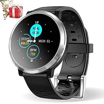 Smartwatch Reloj Inteligente, HopoFit HF04 Impermeable IP67 Podómetro Pulsómetros con Monitor de Sueño, Caloría, Notificación Llamada y Mensaje, ...