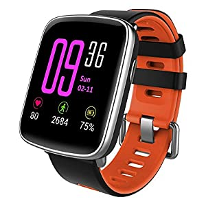 Smartwatch,YAMAY Bluetooth Smart Watch Waterproof IP68 Fitness Tracker Watch with Heart Rate Monitor Pedometer Sleep Monitor Stopwatch SMS Call Notification Remote Camera Music for iOS Android Phone