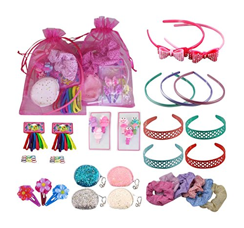 Christmas Stocking Filler Pre Filled Organza Girls Pink Party Goody Loot Bag