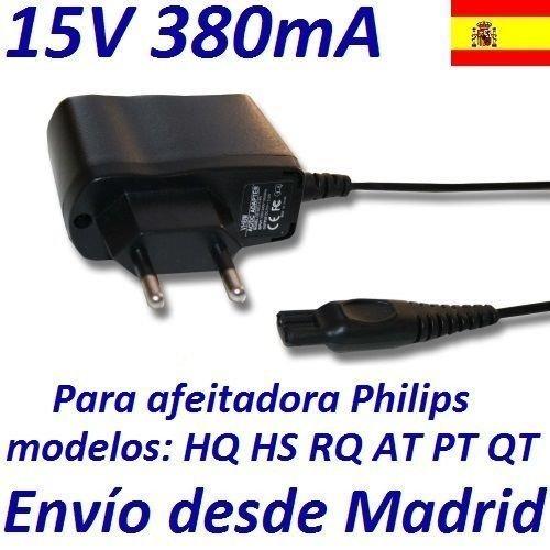 Cargador Corriente 15V Reemplazo Afeitadora Philips HQ7300 HQ7320 HQ7340 HQ736 HQ8445 Recambio Replacement