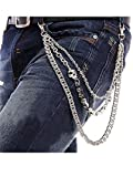 Men Male Punk Non-mainstream Skull Trousers Key Chain Hip-hop Waist Jeans Tide Hiphop Skull Keychain