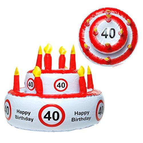 Hinchable tarta cumpleaños varios redondo número