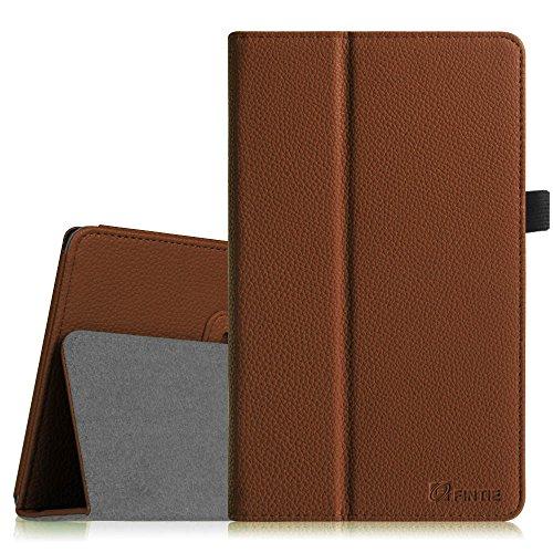 Fintie ASUS ME181CX Folio Hülle Case - Slim Fit Schutzhülle Cover Tasche Etui für ASUS ME181CX ProSieben Entertainment Pad 20,3 cm(8 Zoll) Tablet-PC (ASUS MeMO Pad 8 ME181C), Braun
