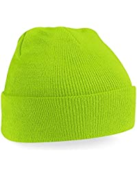 Beechfield Knitted Hat, Lime Green, One Size one size,Lime Green