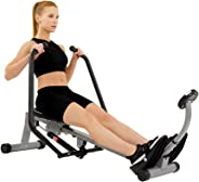 Sunny Health & Fitness Unisex Adult SF-RW1410 Rowing Machine With Full Motion Arms - Silver, One Size
