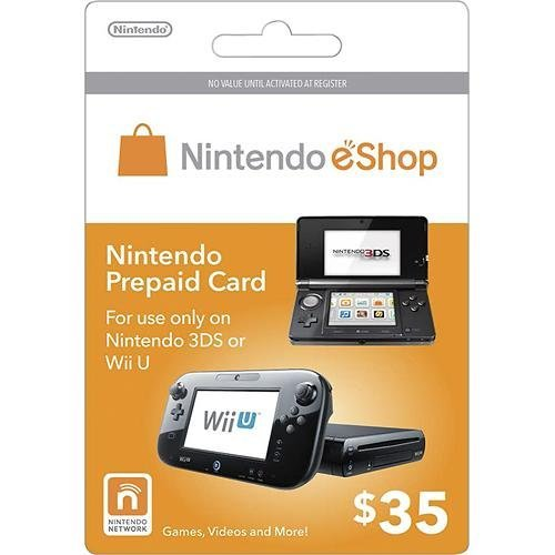 Nintendo eShop $35.00 Prepaid Card for 3DS or Wii U by Unknown