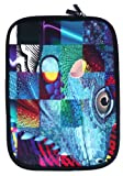 Emartbuy® Reptil Mosaik Wasserabweisende Weiche Neopren Hülle Schutzhülle Case Cover mit Reißverschluss Amazon Fire HD 7 Tablet ( 7 Zoll eReader / Tablet / Netbook )